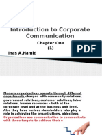 Introduction to Corporate Communication