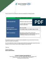 Advisory -Third-party Maintenance Activity - APCN2 S7 Cable Shunt Fault Restoration