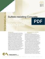 Sulfate Resisting Concrete