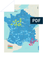 Voici la carte du réseau des Autoroutes du Sud de la France