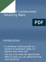 Cantilever Ret Walls