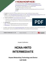 HCNA-HNTD Intermediate Lab Guide V2.1