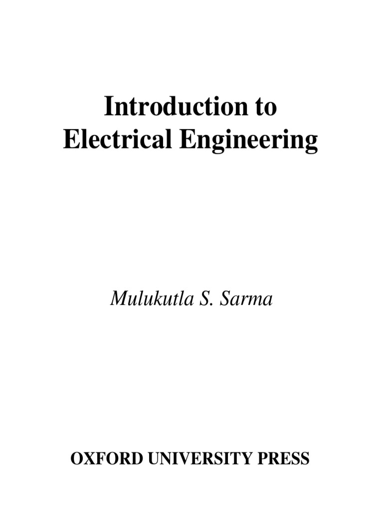 Mulukutla S Sarma Introduction To Electrical Engineering Oxford R 2r Ladder Circuit Diagram University Press Usa 2000 By Nishanbalpdf Electric Charge Network