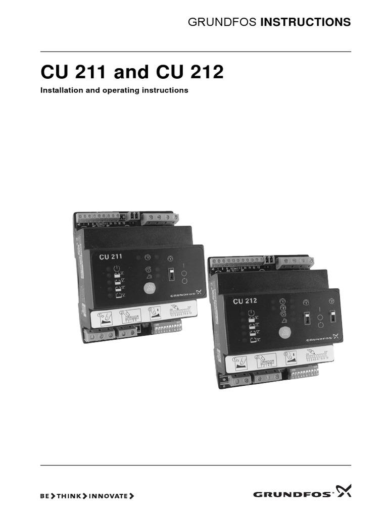 cu 211 switch pump rh scribd com Grundfos Installation Manuals Grundfos Circulation Pump Manual