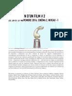 L'Exposition d'un film #2 / Centre Pompidou / Paris / November 25-27, 2016.