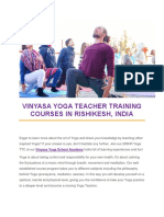 Vinyasa Yoga Teacher Training Courses in Rishikesh-Vinyasa Yoga Academy