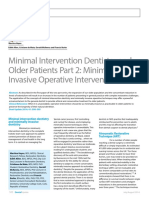 Minimal Intervention Dentistry And
