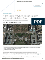 19th-Century White House Garden Aligns With Solstice Sun