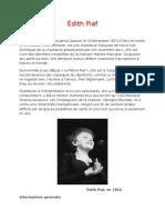 Édith Piaf Referat