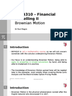 Lecture 07 - BKF4310 - Financial Modelling II - Brownian Motion