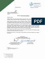 Surat Permohonan Klarifikasi Andalalin Dari INKINDO