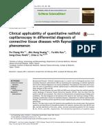 Clinical Applicability of Quantitative Nailfold
