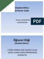 EEM401 Professional Aspects of Electrical Engineering - Öğrenci Etiği