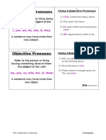 grammar cards - pronouns
