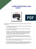Cara Memperbaiki Masalah Printer Canon MP 287