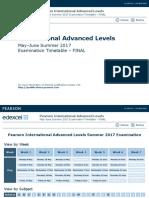 8109 IAL May June 2017 Provisional Examination Dates