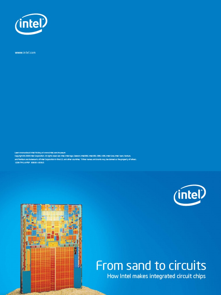 Intel From Sand To Circuitspdf Semiconductor Device Fabrication Integrated Circuit Chips