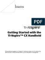 TI-Nspire CX Handheld GettingStarted en GB