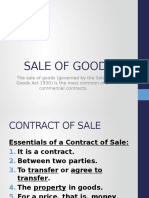 8 Sale of Goods