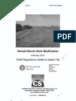 Hensall Barrier HSF Review CH2M 24.05.2016