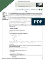 Solución Numérica de Ecuaciones Diferenciales1