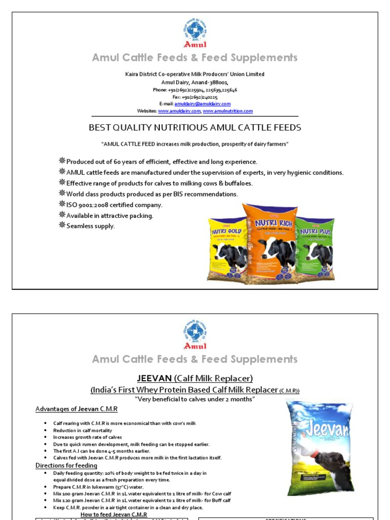 All Product Details | Dairy Cattle | Milk