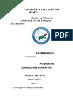 FORO ACADEMICO I Evaluacion Educativa