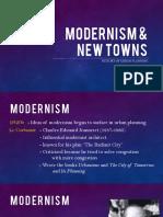Modernism & New Towns