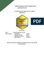 Makalah Parameter & Baku Mutu Air Baku Dan Air Limbah