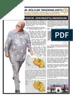 Wakala wa Jiolojia Tanzania (GST) Rais  Dk John Pombe Magufuli kwa kutimiza mwaka moja wenye mafanikio makubwa.