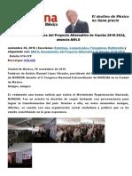 Lineamientos Básicos Del Proyecto Alternativo de Nación 2018
