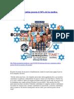 Seis Compañías Judías Poseen El 96 porciento de los medios de comunicacion
