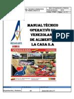 Manual Tecnico Operativo de Las Plantas Administradas Por de Venalcasa s.A