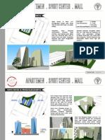 Konsep awal desain mixed use building