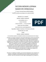 Interdiccion Menor Lopnna Abogado en Venezuela