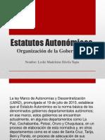 Estatutos Autonomicos - Organizacion de La Gobernacion