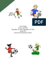 unit plan elementary soccer