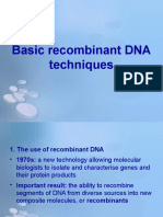 10 - Basic Recombinant DNA Techniques