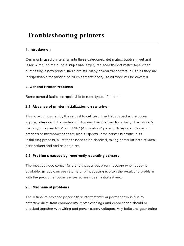 Printers Repair pdf | Printer (Computing) | Image Scanner