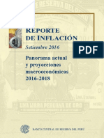 BCRP Reporte de Inflacion Setiembre 2016