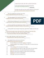 Rewrite the Sentences Present Participle