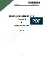 3-Ensayo Ex Cátedra N°4 Lenguaje 2016