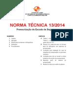 Nt 13 2014 Pressurizacao de Escada de Seguranca