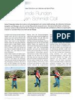 Golf lernen auf dem Golfplatz