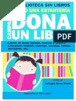 convocatoria Donación de libro