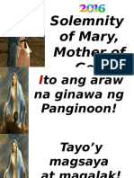 Solemnity of Mary Mother of God 2016