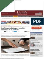 recorte pagina- La Ley- Una Fotocopia Basta Para Acreditar Existencia de Un Contrato