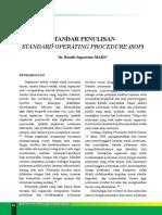 Artikel SOP Dr. Basuki Majalah RSON