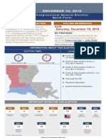 Louisiana Election Quick Facts December 10 2016