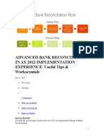 Advanced Bank Reconciliation in Ax 2012 Implementation Experience